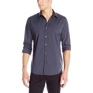 Theory Zack Twill Print Woven Button Down Shirt